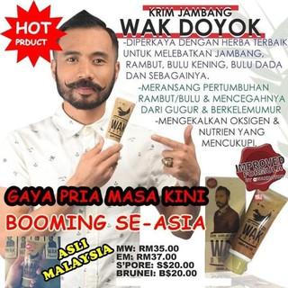 ... Rambut Shampoo Krim Jambang Wak Doyok 75ml Malaysia Original Cream Wakdoyok ORIGINAL. suka: 0