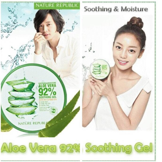Produk Terbaik Nature Republic Original 300ml Gel Aloe Vera Soothing Gel Expired Lama Shopee Indonesia