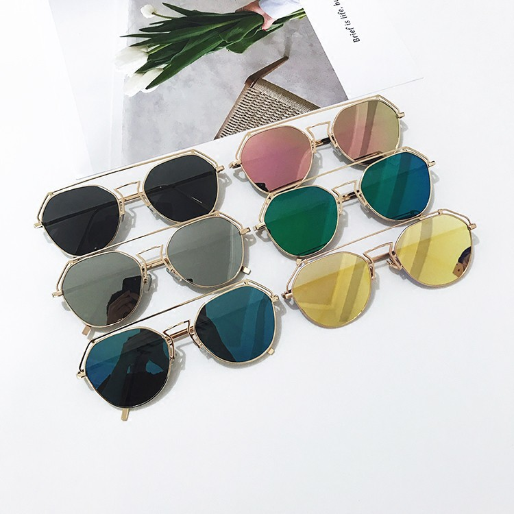 Gelas kacamata cermin Fashion Frame summer Sun Glasses Vintage Color  Sunglasses Goggles Shades  cf323efdaf