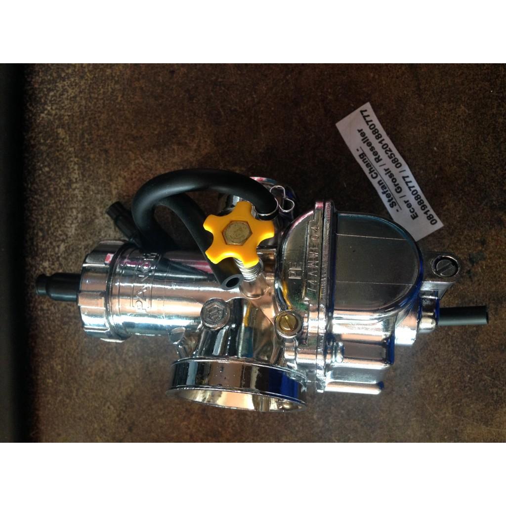 Karburator Carburetor Karbu PE 28 Panom Chrome   Shopee