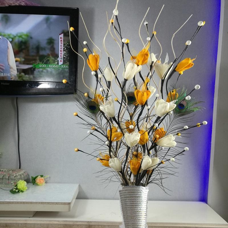 Daun Vena Simulasi Kering Bunga Palsu Karangan Hidup Lantai Ruang Dekorasi Rumah Interior Dekorasi B Shopee Indonesia