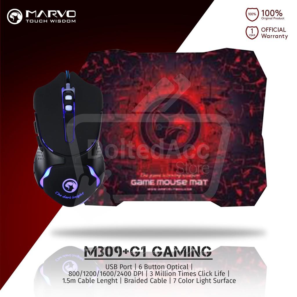 Marvo Scorpion Sting Mouse Gaming M319 Free Pad Hunter 30x80cm Besar Polos M309 6d G1 Hitam Shopee Indonesia