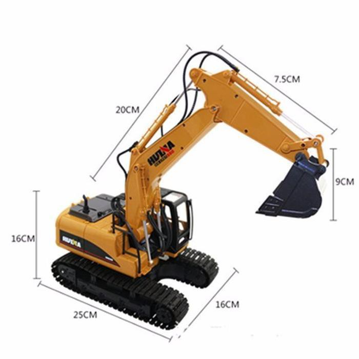 Mainan Remot Control Excavator Beco Bahan Besi Model Backhoe Rc Alat Berat Excavator Caterpilar Ori Shopee Indonesia