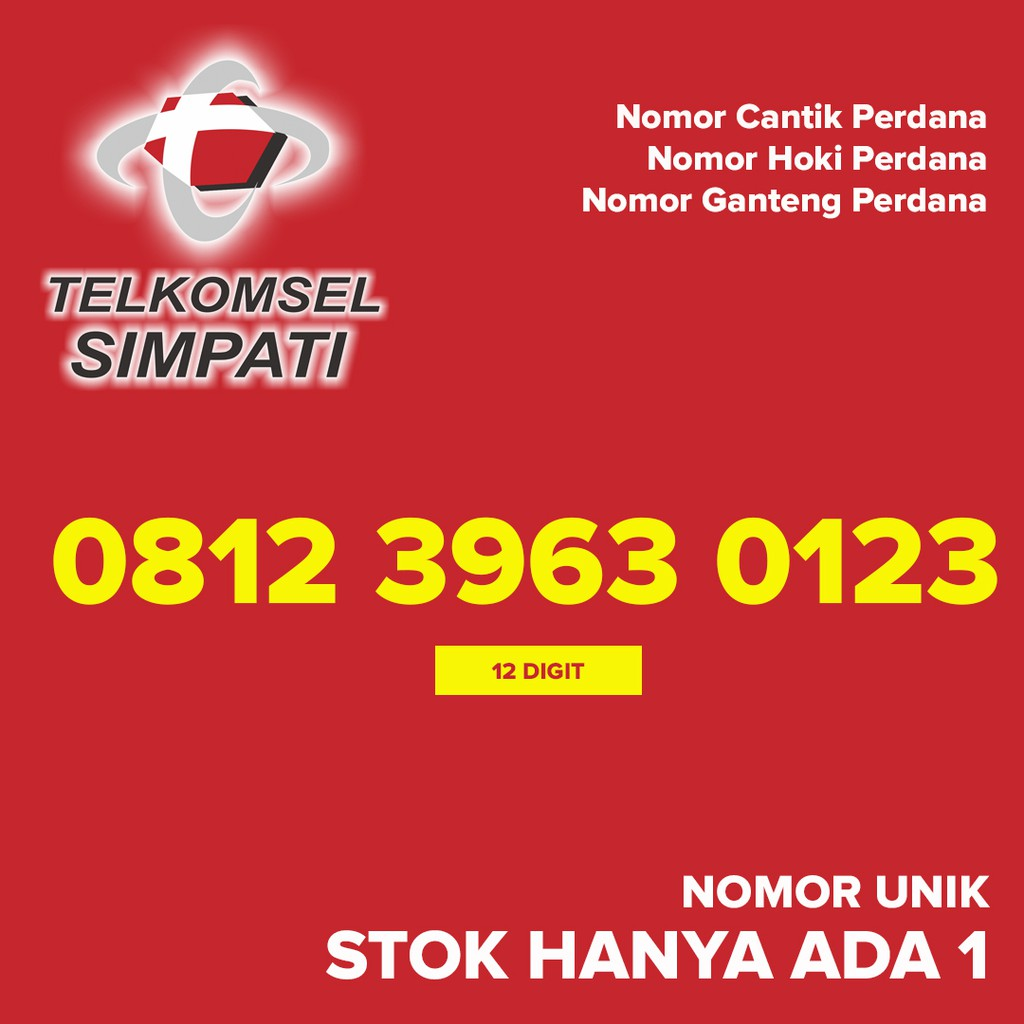 Kartu Perdana SIMPATI Nomor Cantik Hoki Ganteng 0812 7777 3557 | Shopee Indonesia