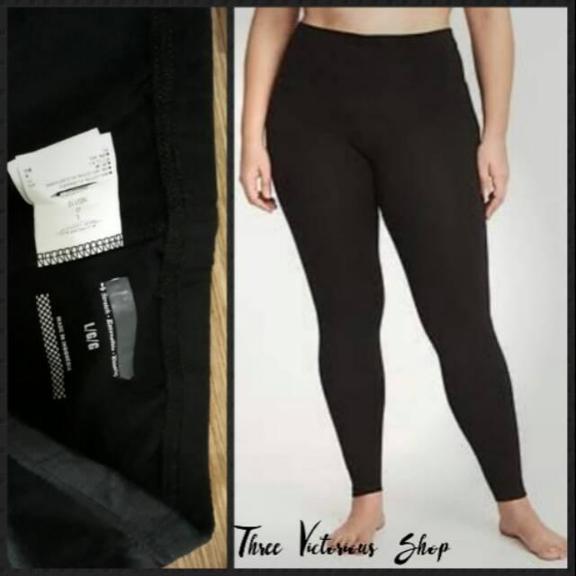 Celana Legging Yoga Black Merk Branded Old Navy Big Size Jumbo Shopee Indonesia
