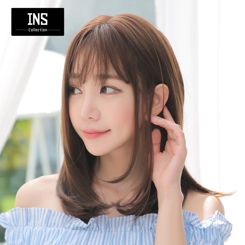 Cod Grosir Wig Korea Perempuan Rambut Pendek Pir Kepala Bunga Menengah Lurus Ikal Panjang Inskol Shopee Indonesia
