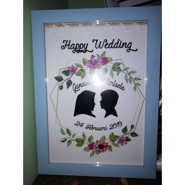 kado nikah unik silluet kado siluet wedding gift shopee indonesia kado nikah unik silluet kado siluet wedding gift