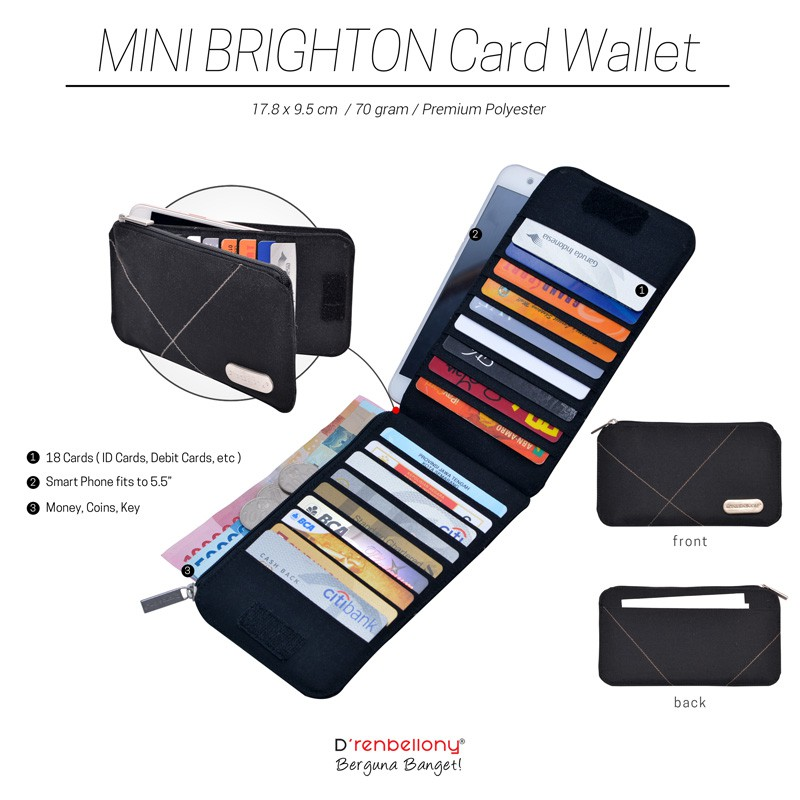 D renbellony Mini Brighton Card Wallet   Dompet mini brighton  dompet kartu   CARD HOLDER   dompet HP  e985f7b29a