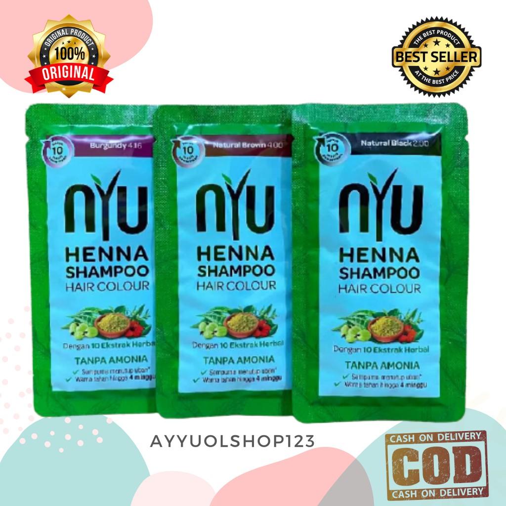 NYU   HENNA SHAMPOO HAIR COLOUR (CAT RAMBUT) 20ML