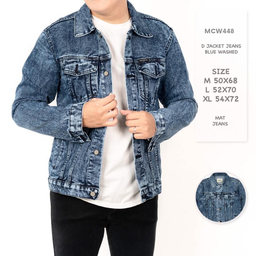 MCW448 D Pull&Bear Jacket Jeans Blue Washed M-XL / Jaket ...