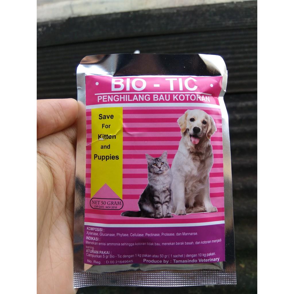Bio - Tic 50 gram Original Penghilang Bau Kotoran Anjing Dan Kucing dari Pakan | Shopee Indonesia