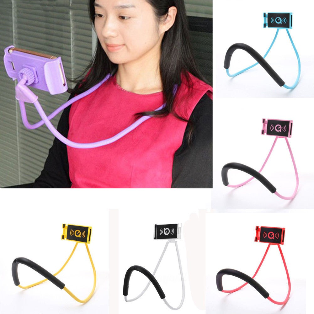 Aimons Holder Leher HP Lazy hanging neck cell Phone Stand Mount necklace | Shopee Indonesia