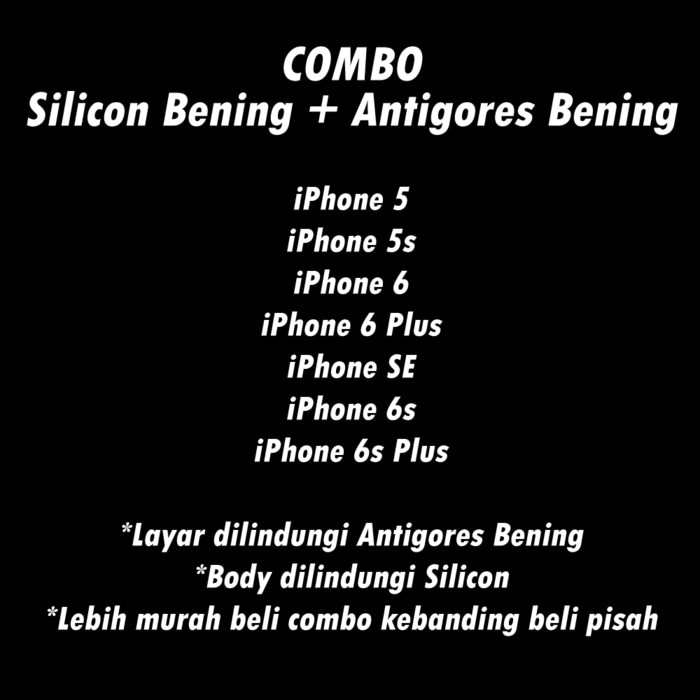 Combo Anti Gores Clear Bening + Soft Case Silicon Clear Bening Iphone Top  Quality  0f66692eb0