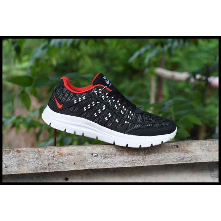SEPATU ORIGINAL MURAH Sepatu Sport Nike Airmax Flyknit 3D Skin Hitam Merah  Running  bc84ded32f