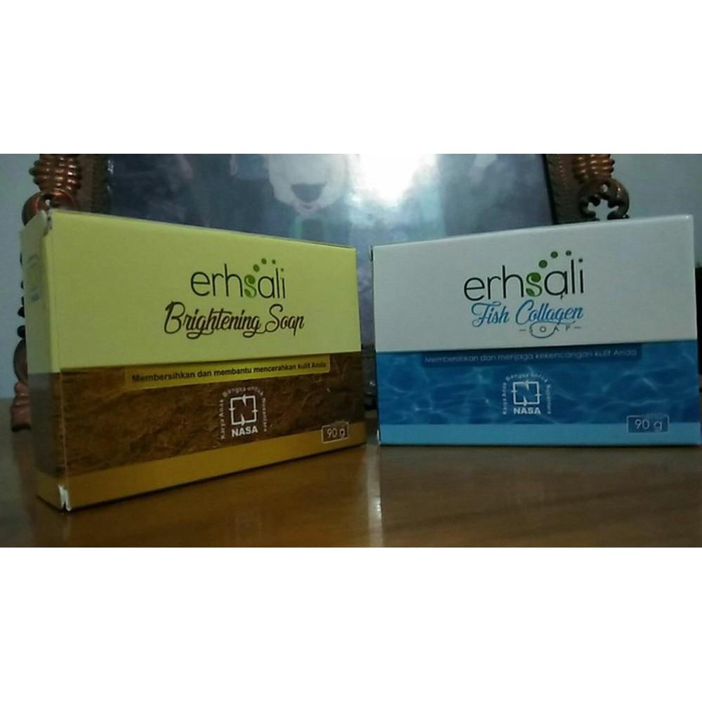 erhsali brightening soap sabun muka transparan sabun wajah kefir original dari NASA | Shopee Indonesia
