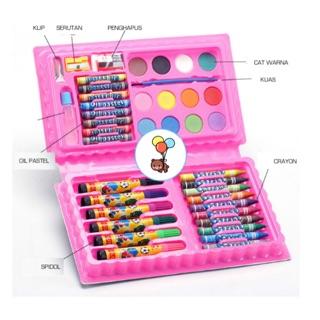 tulis set warna crayon pensil warna alat lukis. suka: 2 .