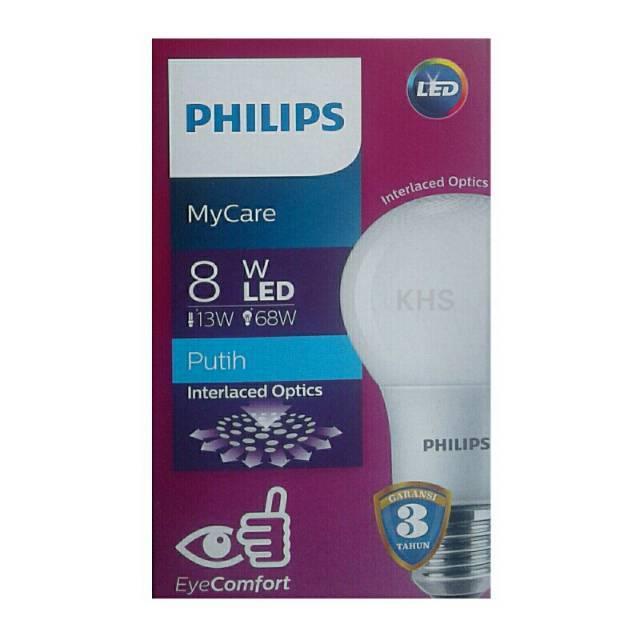 Philips MyCare 6Watt Multipack 4pcs Lampu LED Bulb EyeComfort - Putih | Shopee Indonesia