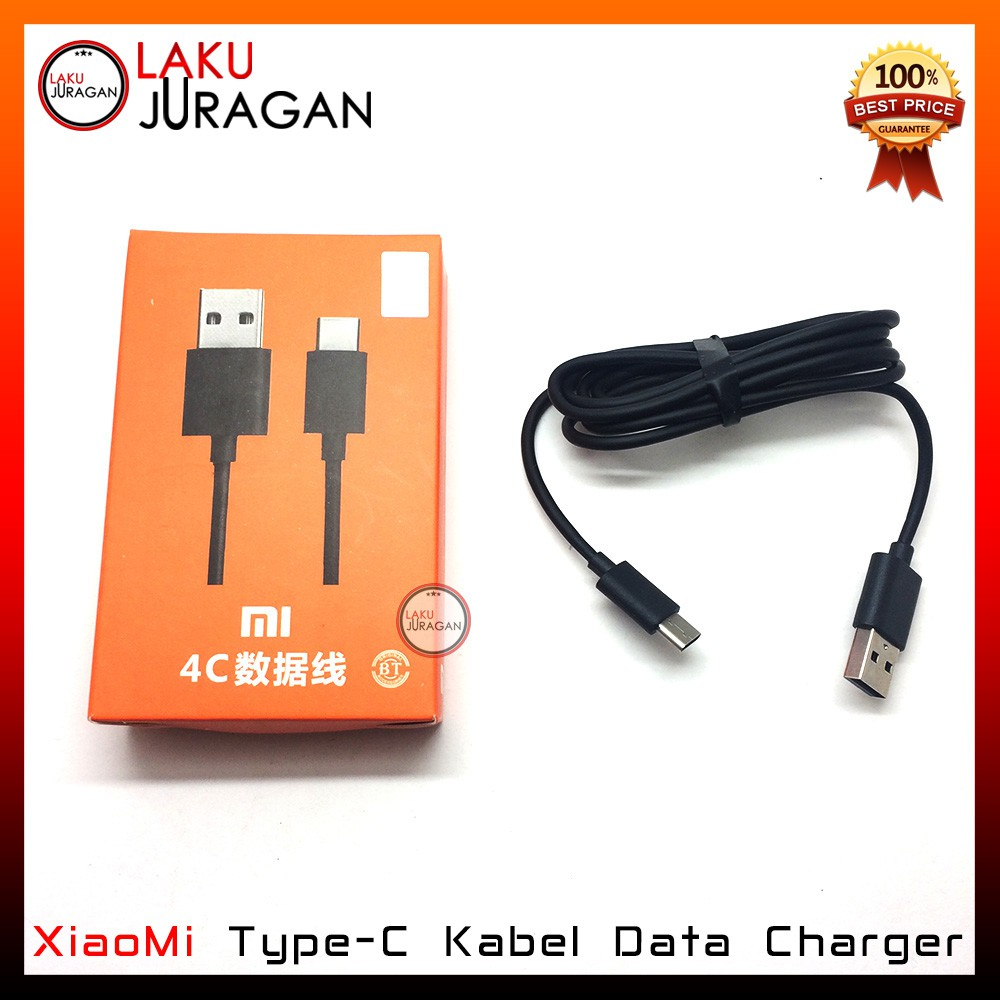 Kabel Data Charger Xiaomi Type C Mi4c Mi5 Original 100 Fast Charging Shopee Indonesia
