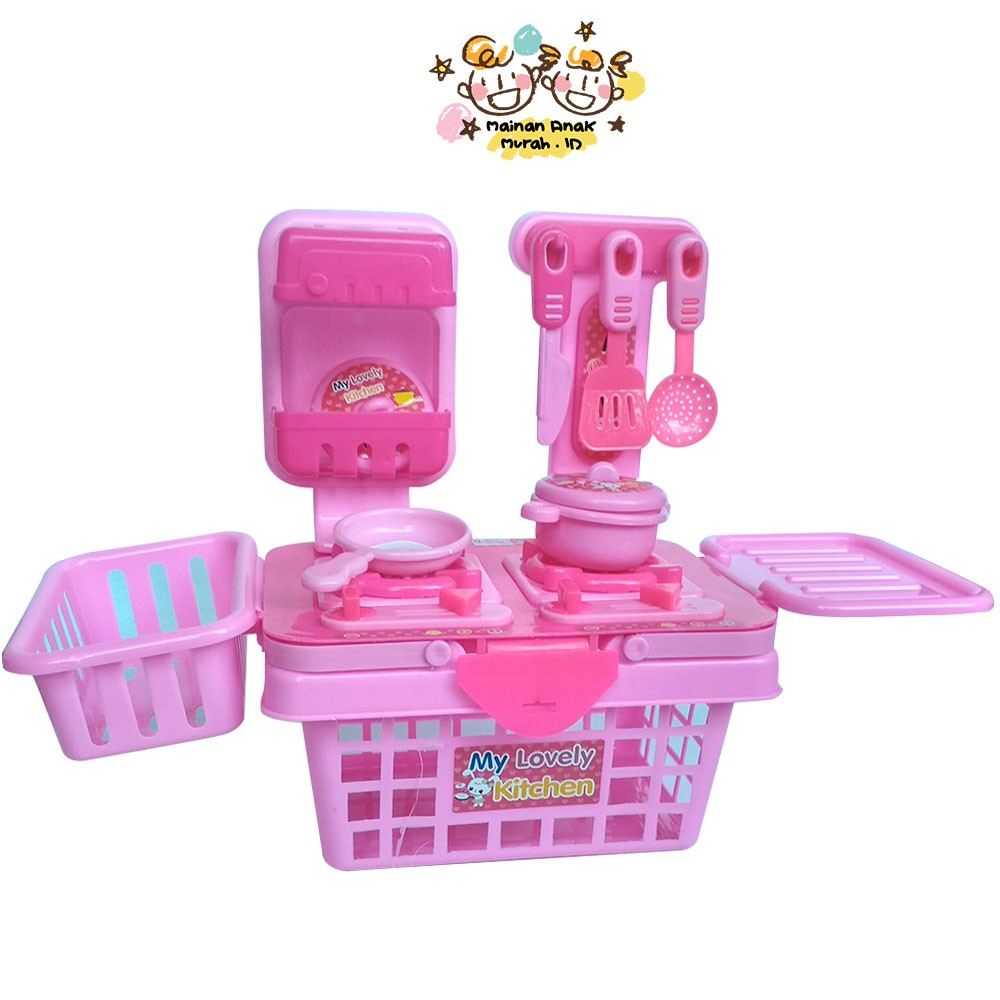 Kitchen Set Keranjang Mainan Masak Masakan Anak My Lovely Kitchen Set Memasak Shopee Indonesia