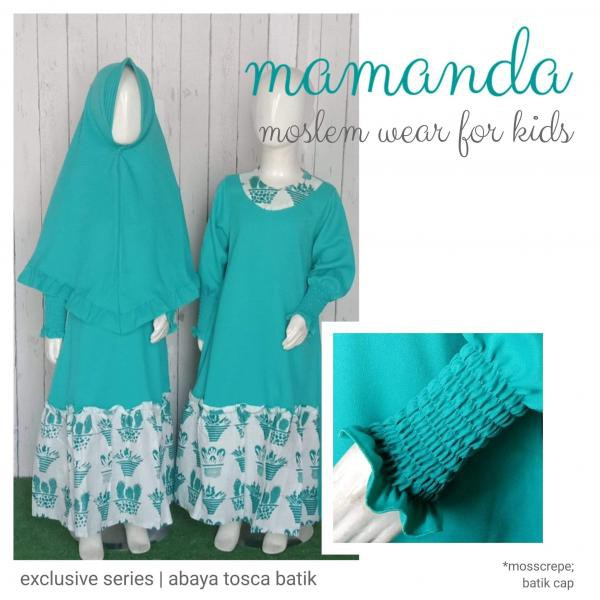 Gamis Anak Abaya Tosca Batik Exclusive Series by Mamanda
