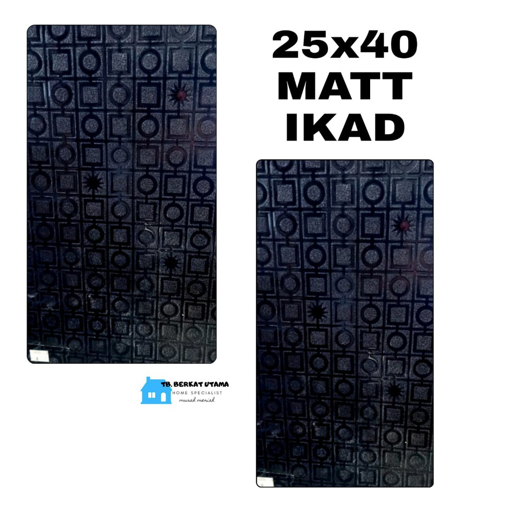 KERAMIK DINDING 25X40 HITAM-KERAMIK LANTAI 25X40 HITAM MATT-DINDING TERAS-DINDING KAMAR MANDI