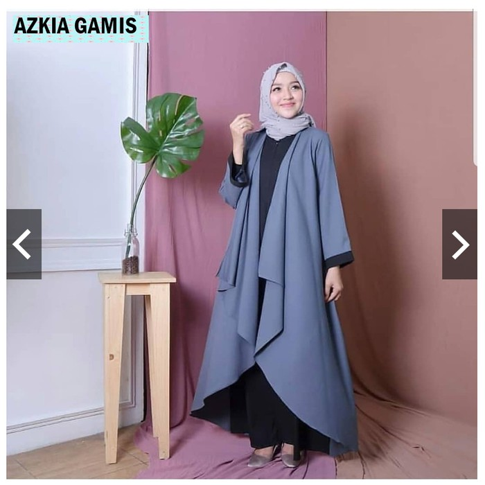 AZKIA DRESS Baju Gamis Terbaru 2020 Gamis Wanita Muslim Wanita Elegant Trendy Gamis Simple