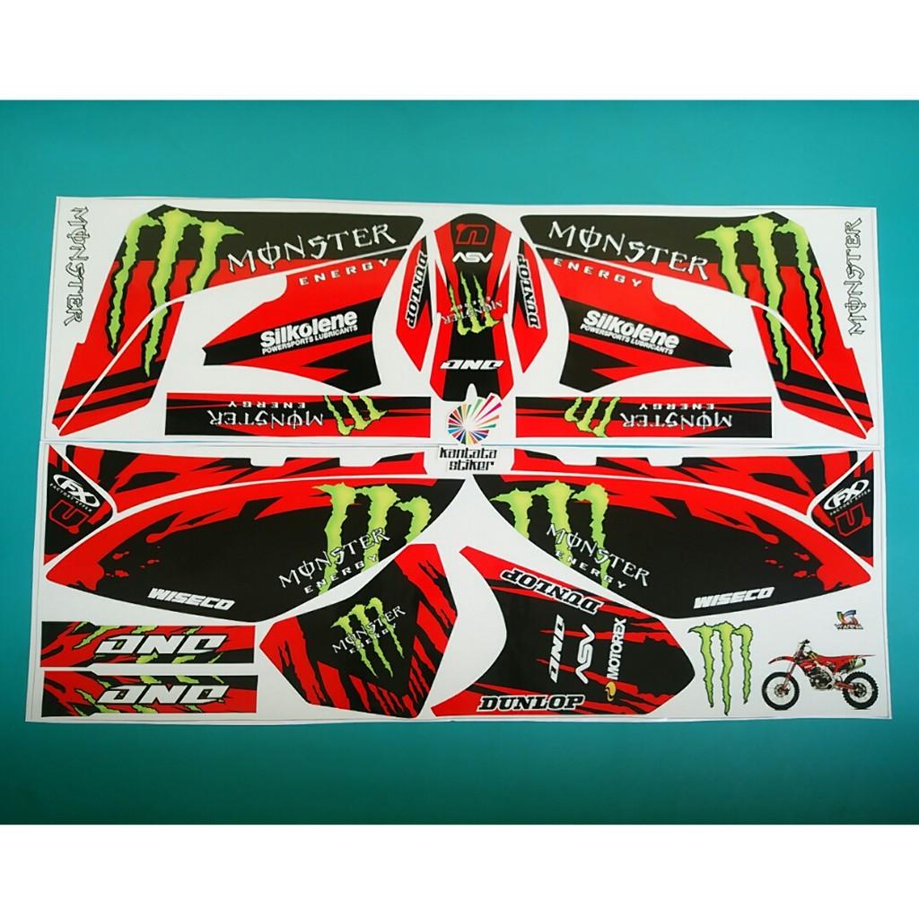 Stiker striping motor KLX 150 L atau S monster merah