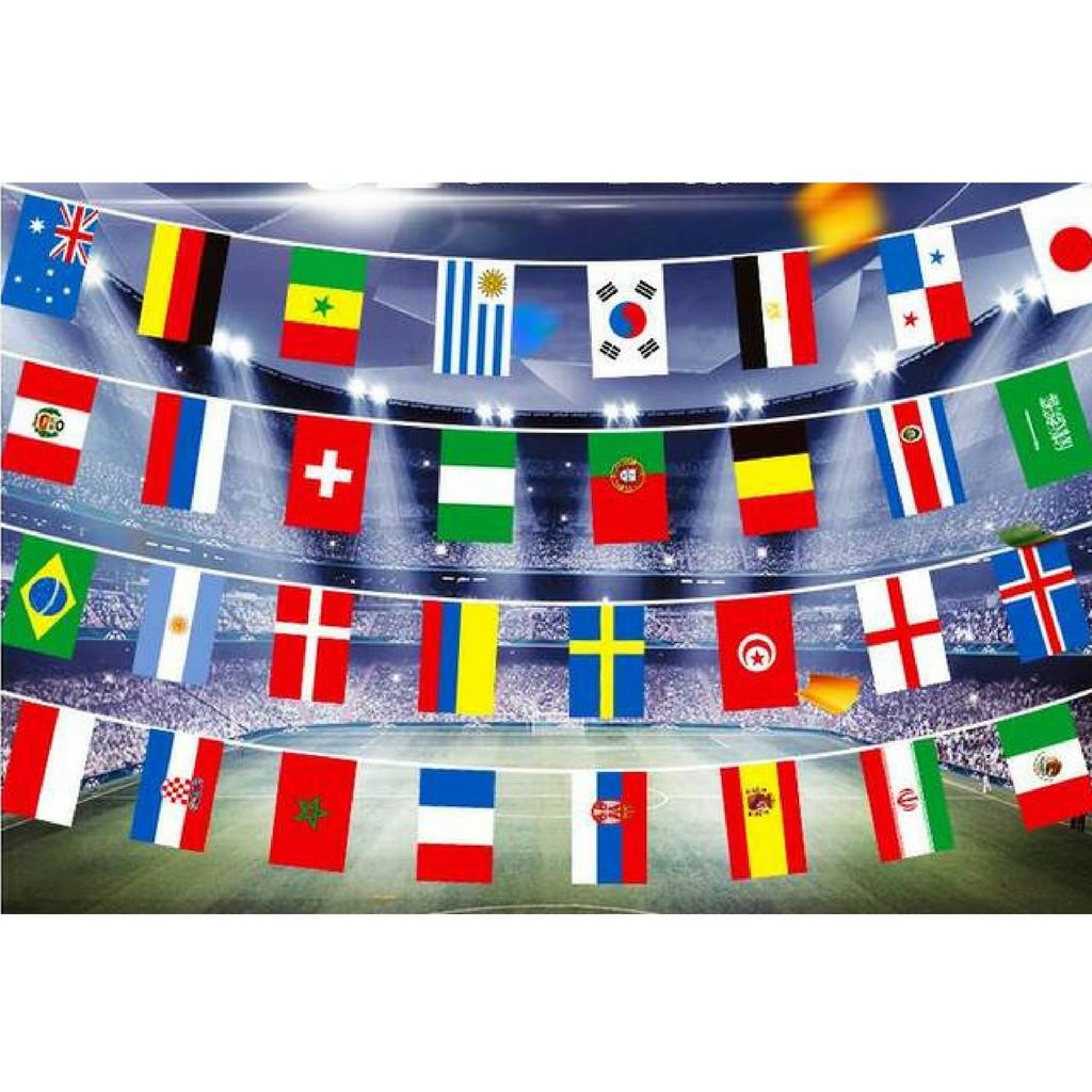 14 X 21cm Bunting Flag Bendera Piala Dunia 2018 32 Negara