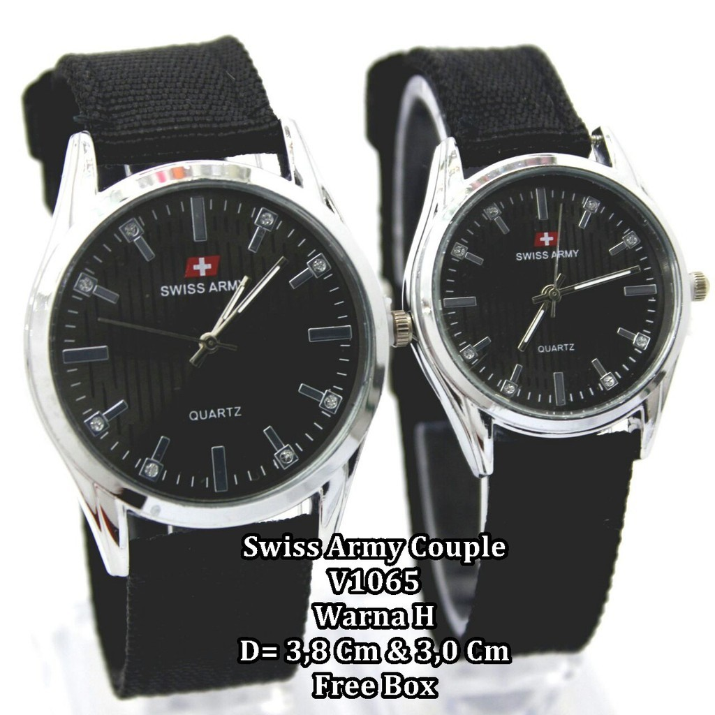 Jam Tangan Pria Wanita Pasangan Couple Montblanc Tera Warna Lengkap Swiss Army Original High Quality Dan