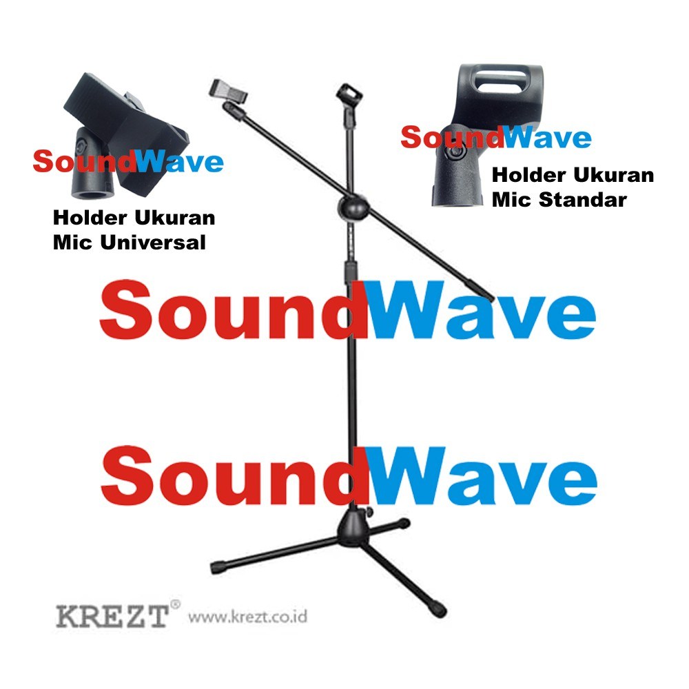 Krezt A2 Cabang 4 Holder Stand Mic Microphone Jepitan Mik Microphone Import | Shopee Indonesia