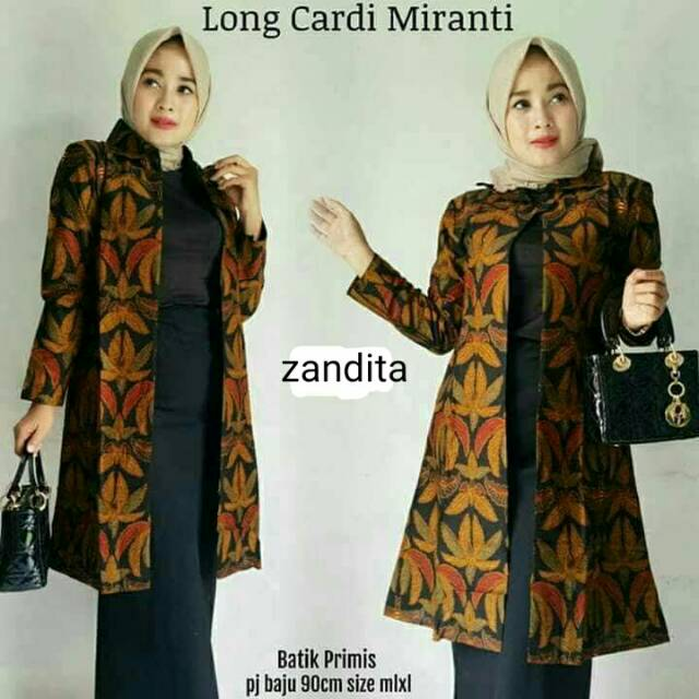 Long Cardi Miranti Cardigan Panjang Batik