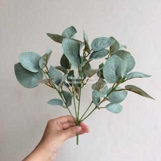 artificial flower 5 stem eucalyptus palsu hiasan bunga