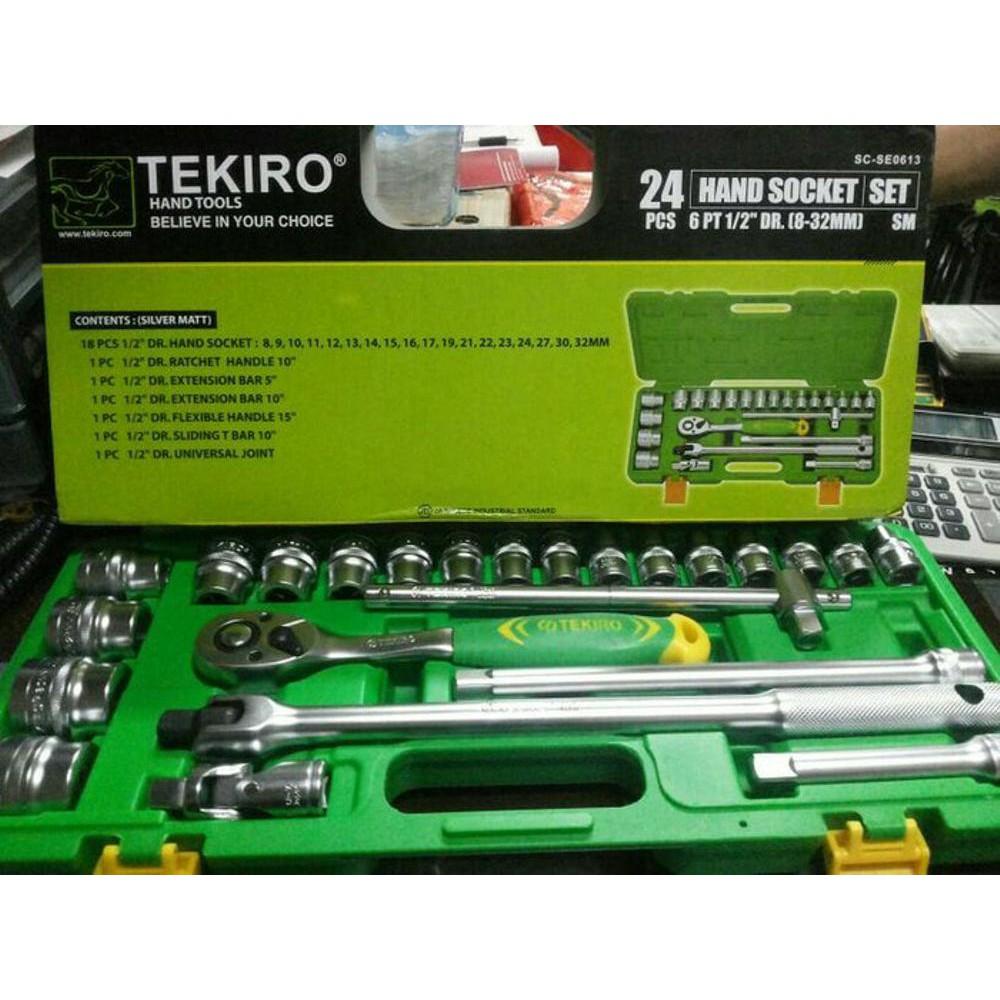 Kunci Sok 40 Pcs Sock Set Tekiro Socket Mata 1 2 6 Pt 26 Mm Wrench Shopee Indonesia