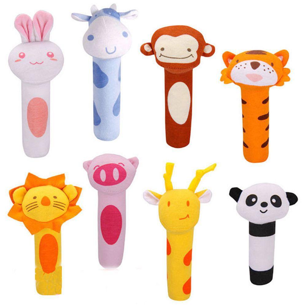 Developmental Sound Infant Baby Rattles Stuffed Plush Toys Animal Doll