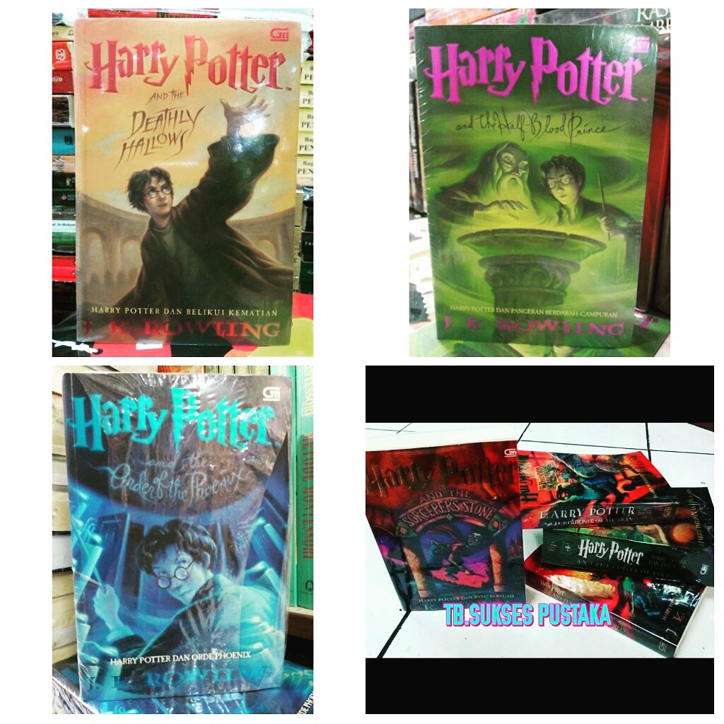 Paket Novel Harry Potter Jilid 1-7