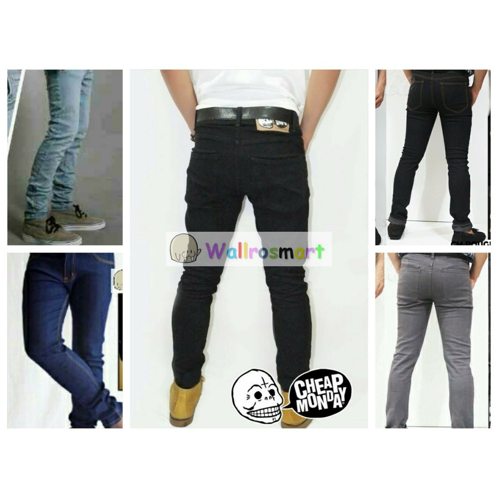 Celana Jeans Cheap Monday Skinny Fit Pensil Black Shopee Indonesia Polos Jsk9100 Size 27 38