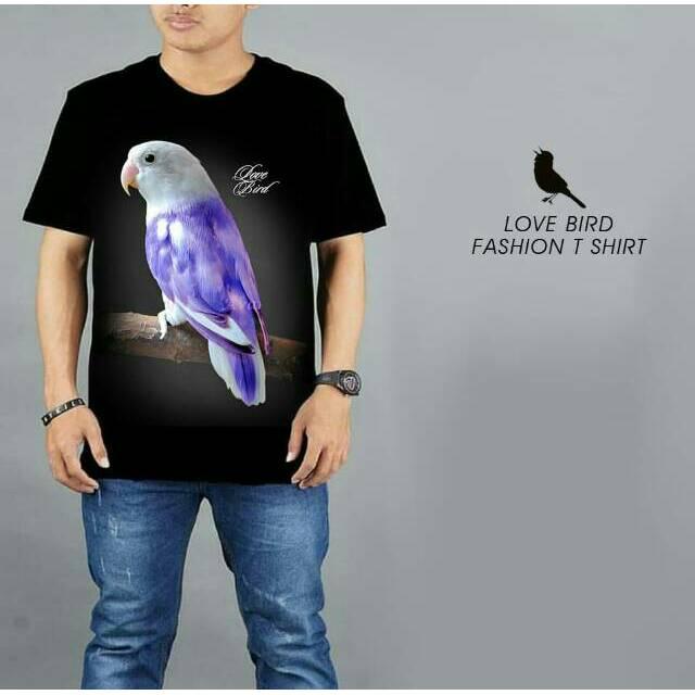 Kaos Burung Kicau Love Bird Violet Spandek Rayon Keren Shopee Indonesia