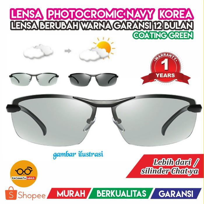 Kacamata Minus Lensa Photocromic Photogrey - Kacamata Hitam Pria Wanita  Korea Kotak Vintage  db3f346f3e