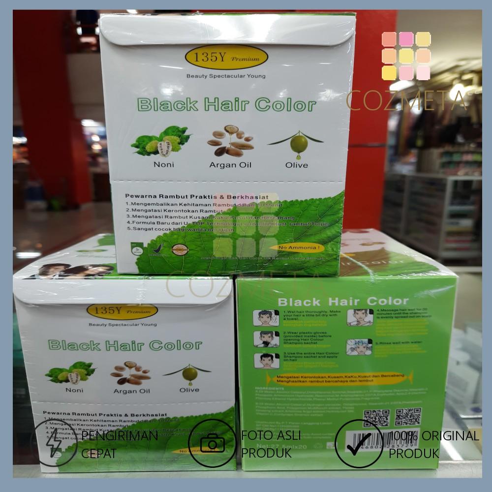 BSY Premium Black Coffee Brown Hair Color Shampoo Sampo Pewarna Rambut Sachet