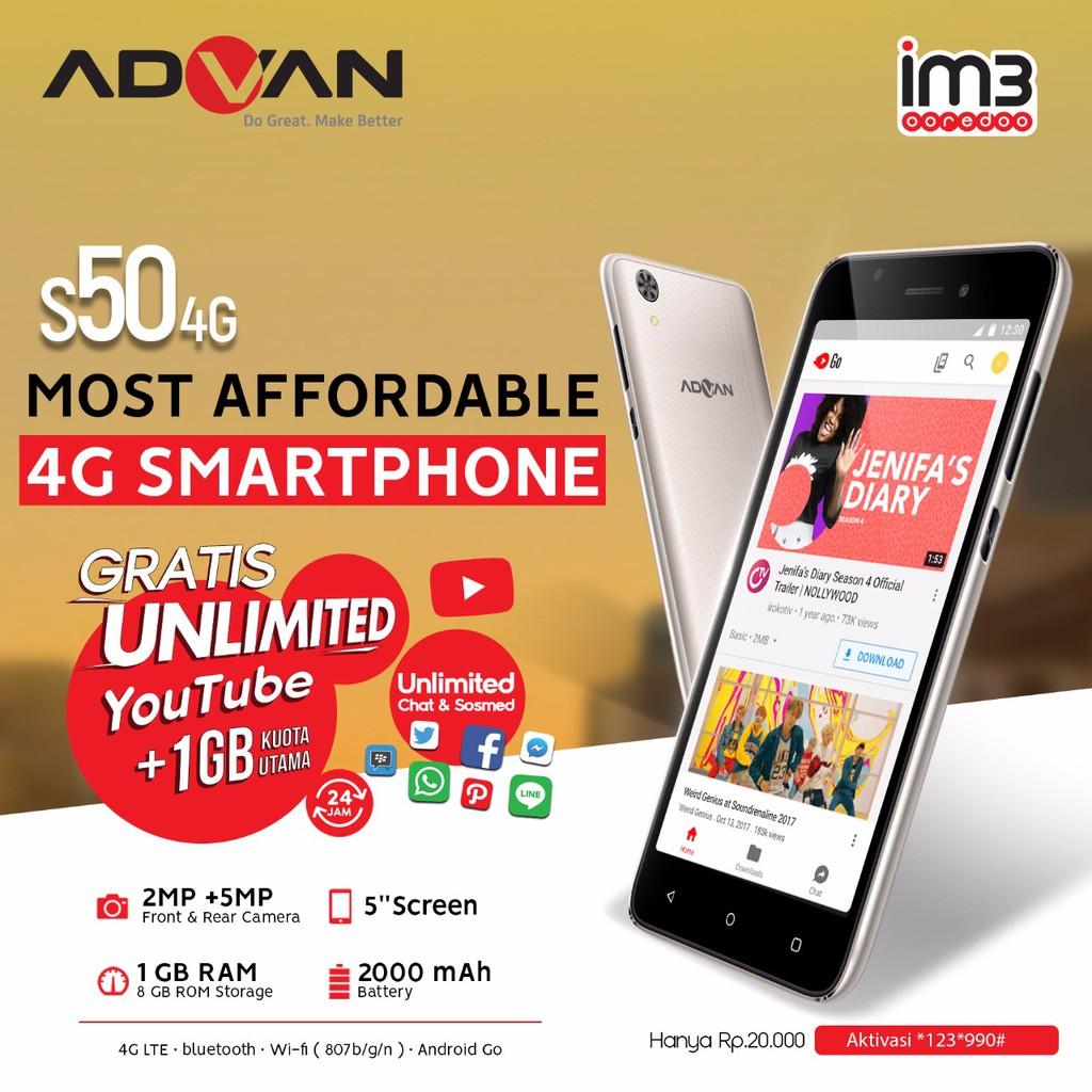Advan S5e 4g Lte Full View Edition Shopee Indonesia S5j Smartphone Quadcore