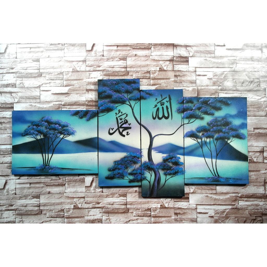 Lukisan Pemandangan Kaligrafi Cx5p Hiasan Dinding Dekorasi Rumah Mei B Shopee Indonesia