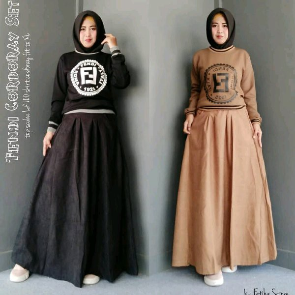 New Releasee Baju Muslim Wanita Terbaru Fendi Set Baju Best Seller Fendi Setelan Baju Gamis Shopee Indonesia