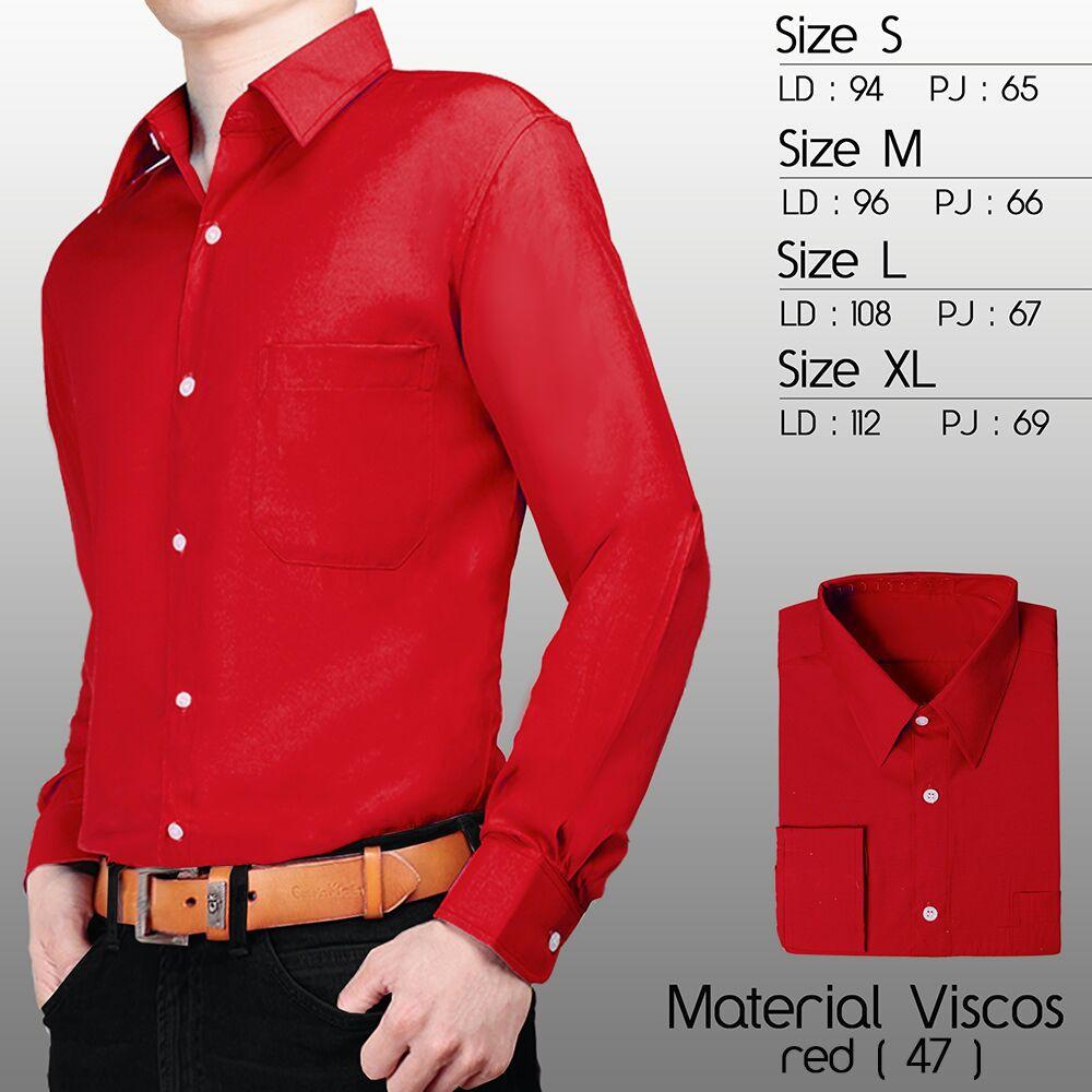 Cottonology Camden Red Shopee Indonesia Long Merah Xxl