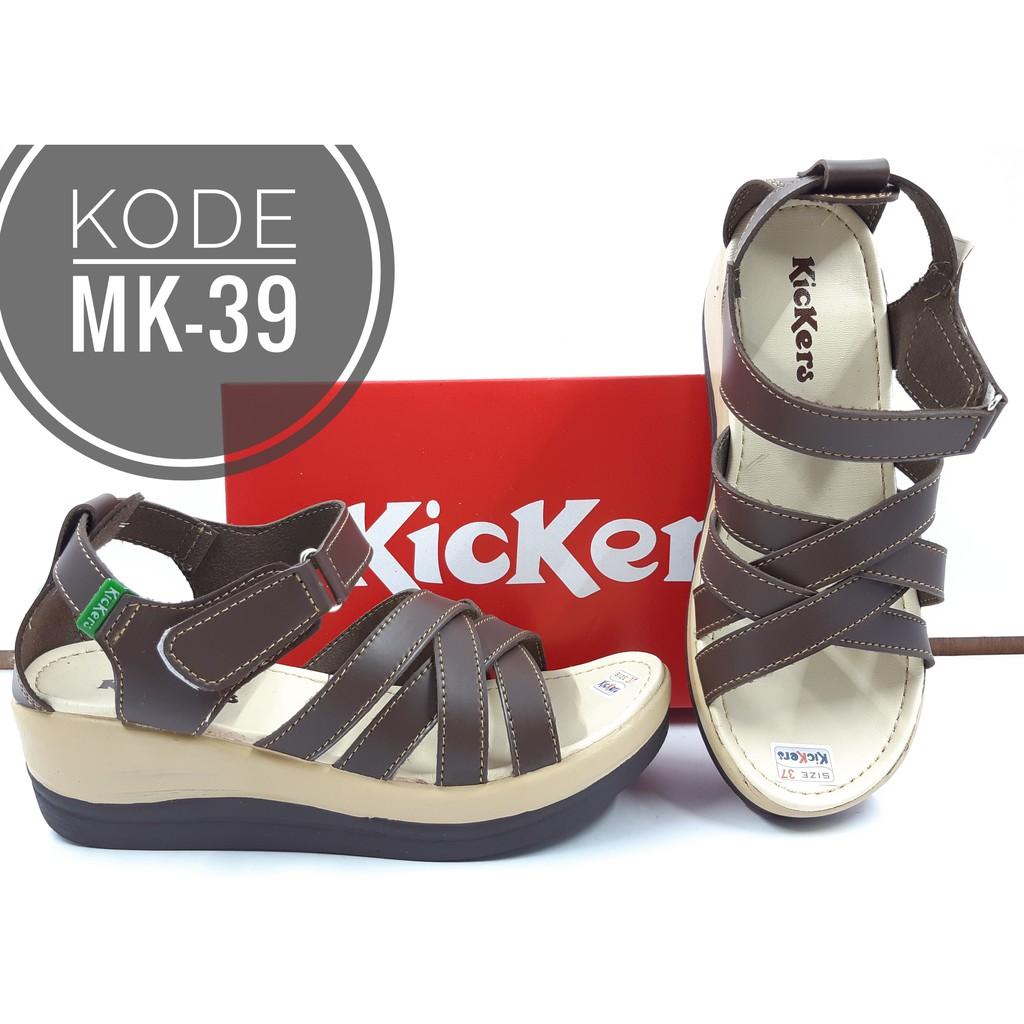 Sandal Wedges Kickers Wanita Kode Mk 39 Shopee Indonesia