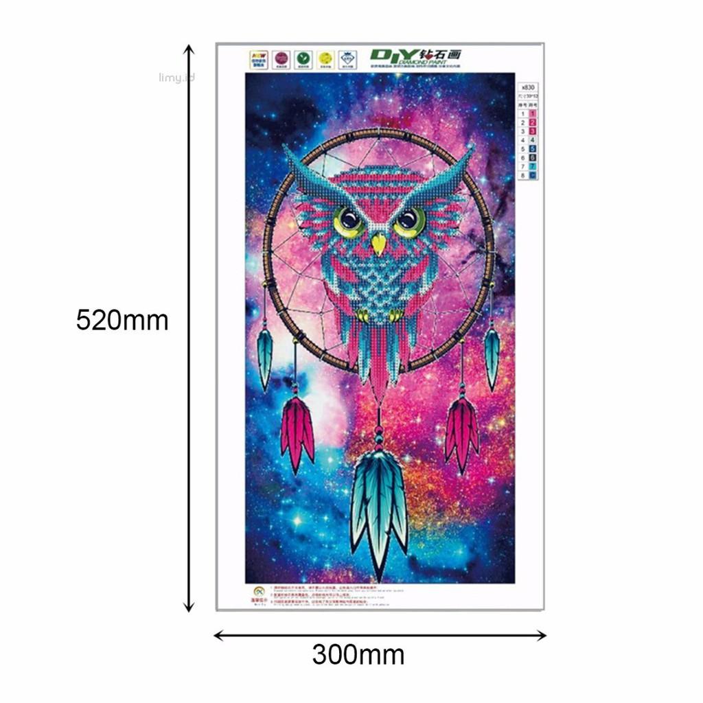 Lukisan Diamond 5D Sulam Gambar Burung Hantu DIY untuk Dekorasi Rumah  8527cdaf22