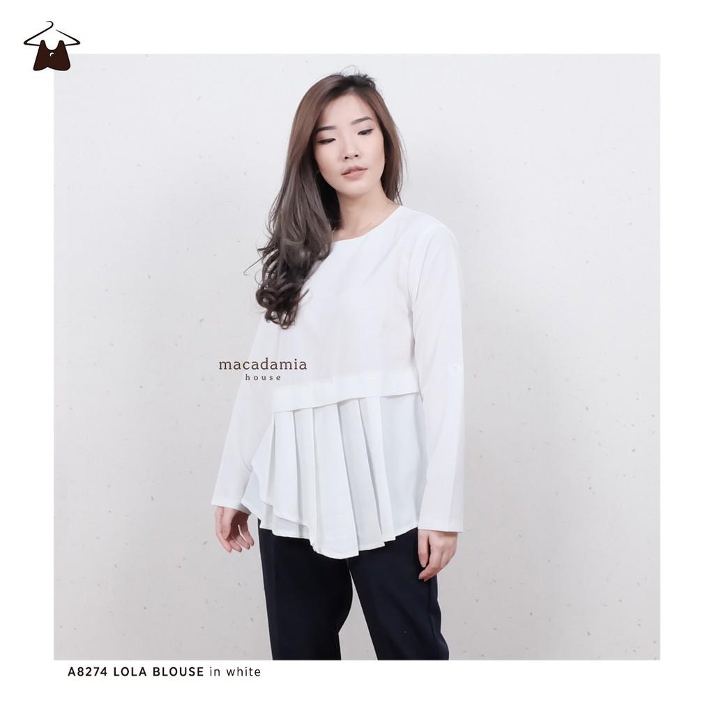 A8268 Lasercut Lace Blouse Shopee Indonesia Kemeja Jumbo Salwa Mint Bahan Balotelly Elegan Fit Xxl