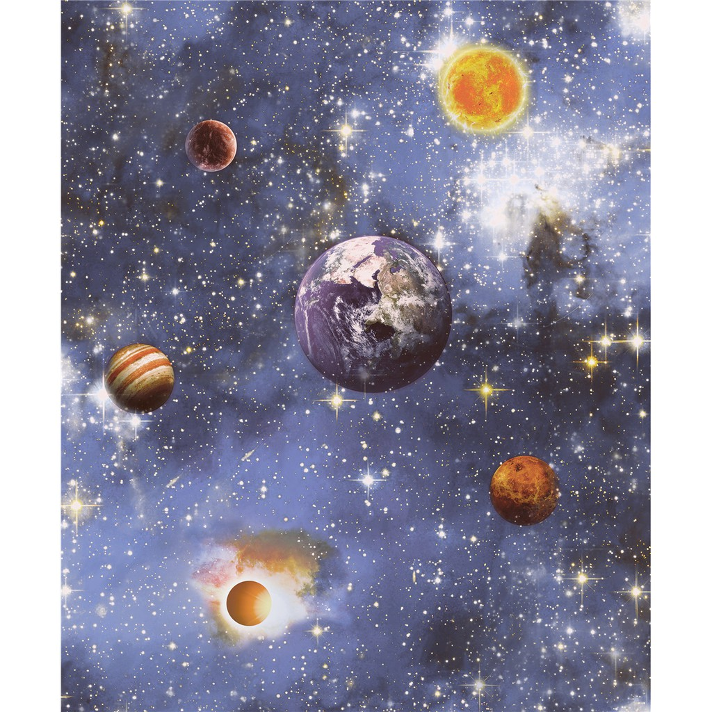 Wallpaper Dinding Anak Motif Planet Tata Surya