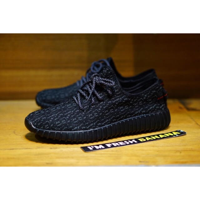 Sepatu Pria Wanita Anak Sekolah Adidas Yeezy Boost Import Black