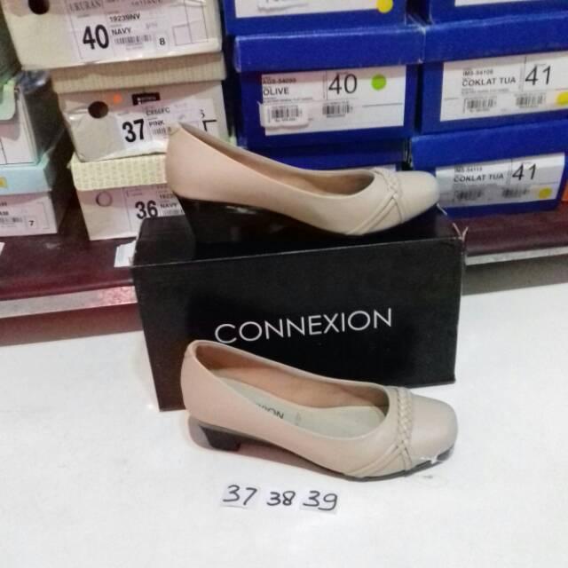 Hn527bg Connexion Fantofel Sepatu Kerja Kantor Wanita Branded