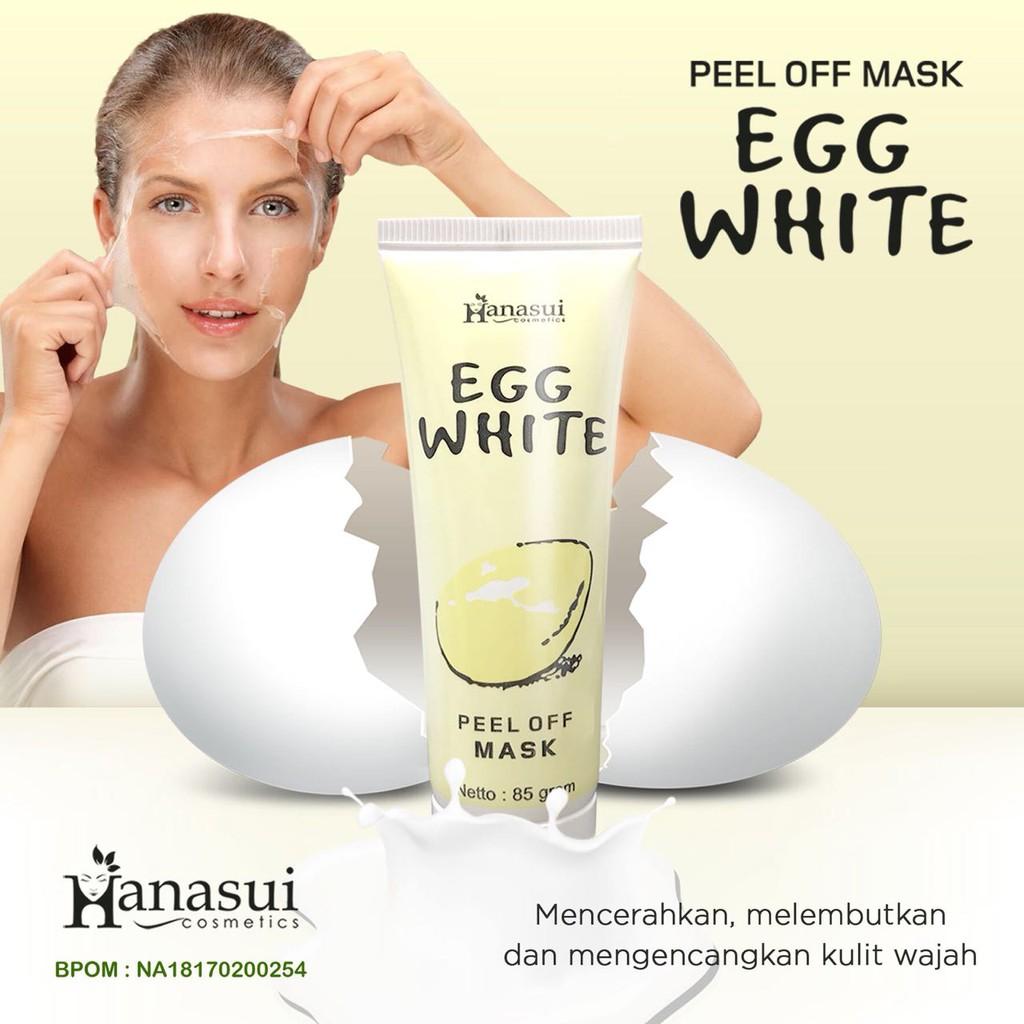 EGG WHITE PEEL OFF MASK HANASUI BPOM / MASKER PUTIH TELUR 1000% ORIGINAL | Shopee Indonesia